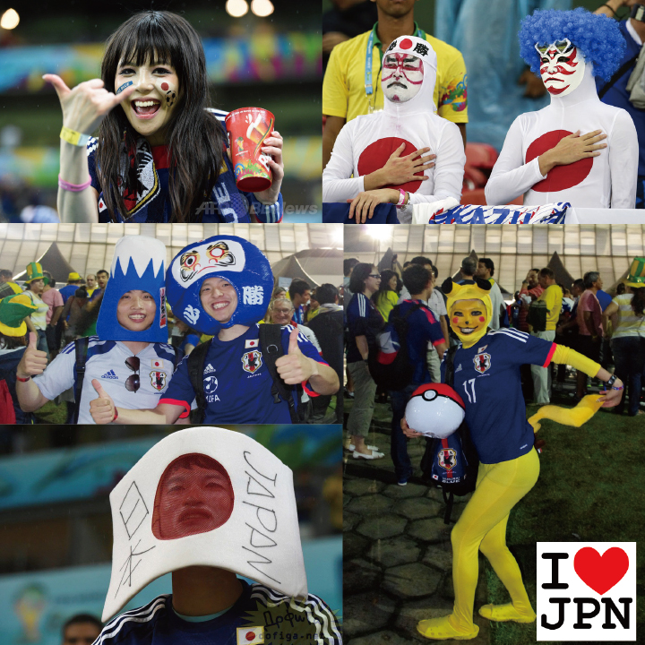 Fancy dress unique Japanese supporters in brazil World Cup