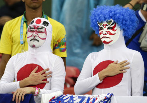 enhanced 29375 1402796464 1 300x210 Fancy dress unique Japanese supporters in brazil World Cup